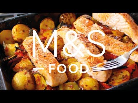 Chris' super salmon traybake | M&S FOOD