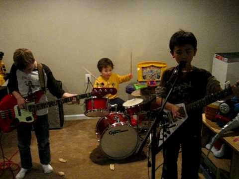 FogHat Slow Ride with 3 year old Aidan on Drums 9 ...