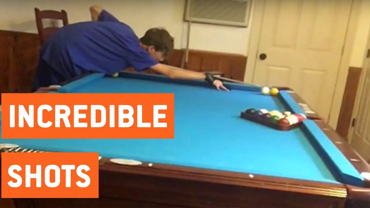 Amazing pool trick shots pool shark youtube - Awesome swimming pool trick shots ...