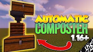 Minecraft 1.16+ Automatic Composter Tutorial Compost to Bone Meal Farm EASY!