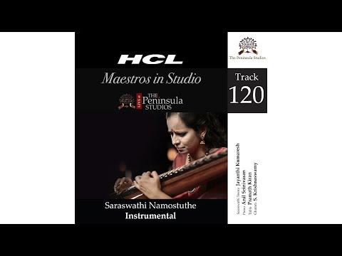 Saraswathi Namostuthe-Jayanthi Kumaresh (Veena)-HCL Maestros In Studio Live @TPS