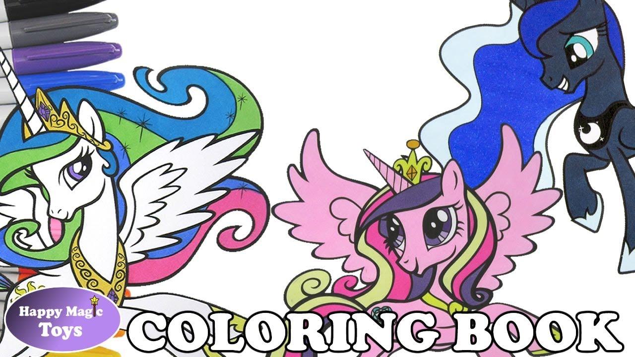 mlp coloring book page compilation princess celestia luna cadance