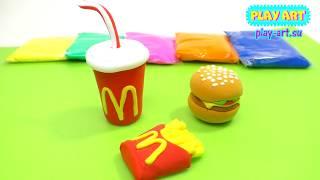 как сделать гамбургер из пластилина Поделки из пластилина humburger set