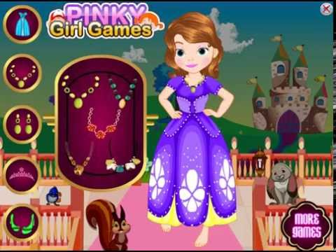 First the sofia dress up games