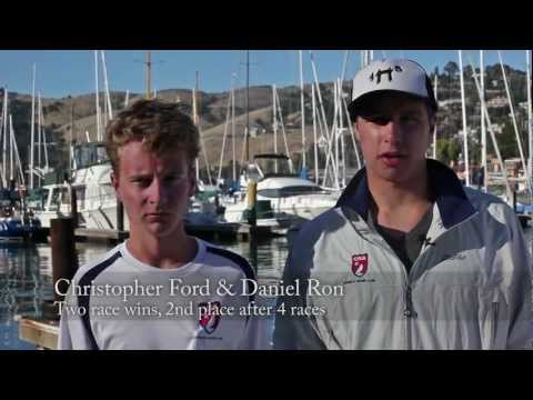 US Sailing Chubb Jr. Champs 2012 - Interview with Christopher Ford and Daniel Ron on 1st Race Day