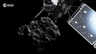 Journey to the surface of a comet