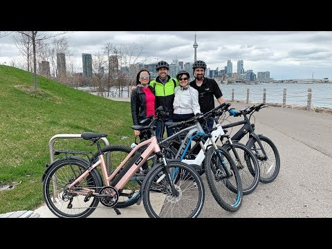 Ebike Tour Of Toronto Canada - CN Tower, Waterfront, Arenas, Aquarium, Roundhouse