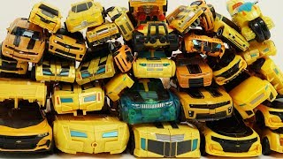 Full Transformers: Bumblebee Movie Yellow Car Autobots Collection трансформеры Color Cars Robot Toys