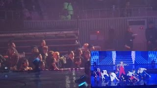 exo 엑소 bts 방탄소년단 reaction to nct 127 엔시티 127 gaon chart awards 2017 fancam version