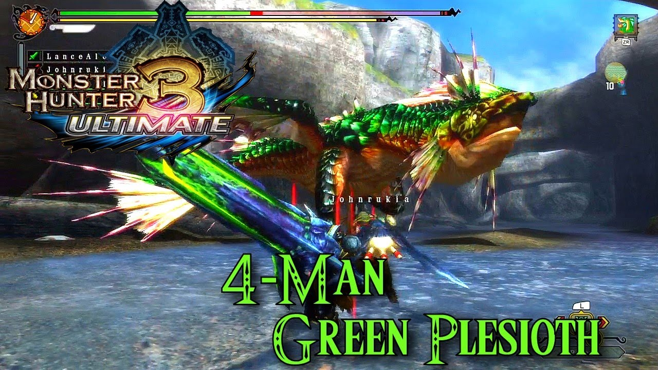 Monster Hunter 3 Ultimate - Green Plesioth [G-Rank] - YouTube