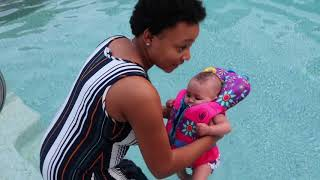 Babies FIRST Time Swimming!!!!