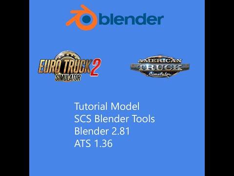 Tutorial Model ATS 1.36 Blender 2.81 Y Conversion Tool 2.10