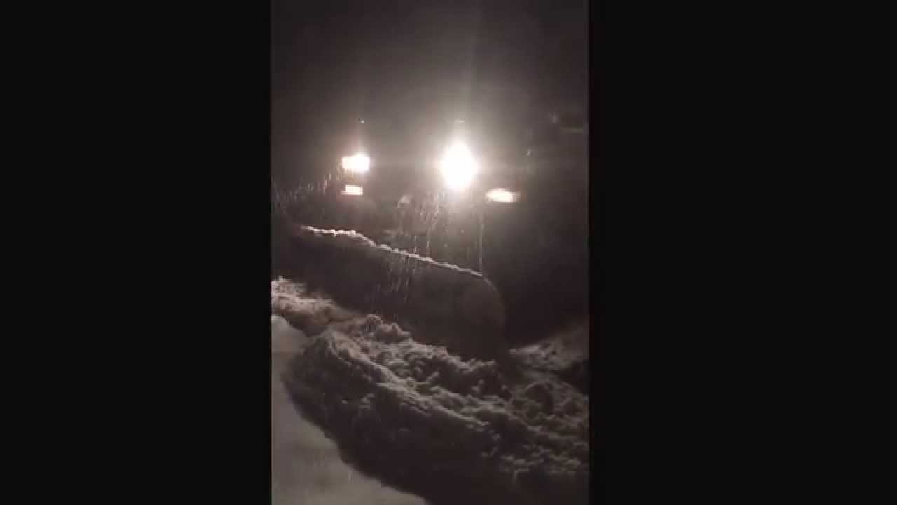 Delightful West County Gardens Inc, St Louis Mo 63124, Professionals Plowing Snow At  11:30 Pm. 314 423 9244