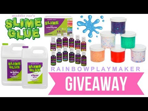 MADDIE RAE'S CLEAR GLUE GALLON SLIME TESTING! SLIME SUPPLY HAUL INTERNATIONAL GIVEAWAY ANNOUNCEMENT!