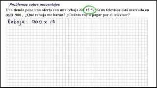 PROBLEMAS DE PORCENTAJES - Ejemplo 01