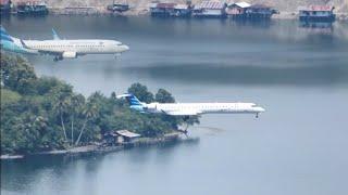 3 Jenis Pesawat Garuda Landing di Bandara Sentani Kota Jayapura Papua    Pesawat Terbang Indonesia