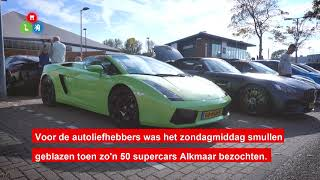 Supercarstoet bezoekt Alkmaar