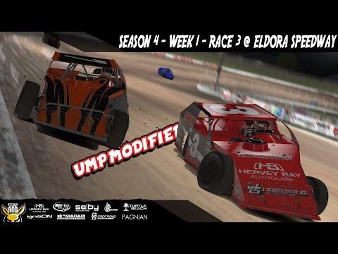 iRacing DIRTcar UMP Modifieds  Week 1 Race 3 @ Eldora Speedway