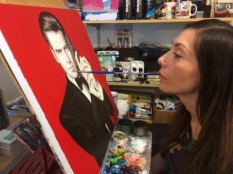 California Life HD | Mouth Painter Mariam Pare Catches Pierce Bronson's Attention