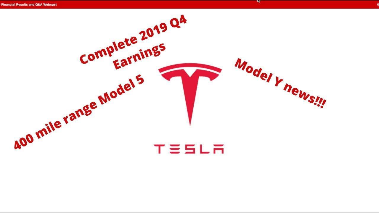 2019 Tesla Q4 Earnings call!! - YouTube