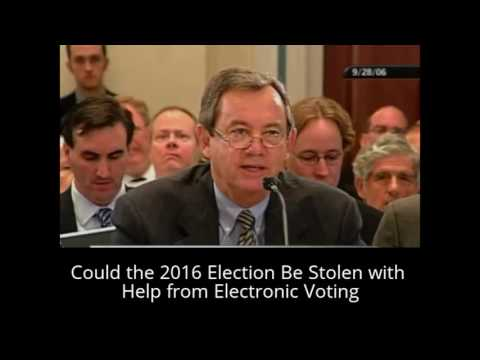 Could the 2016 Election Be Stolen with Help from Electronic Voting