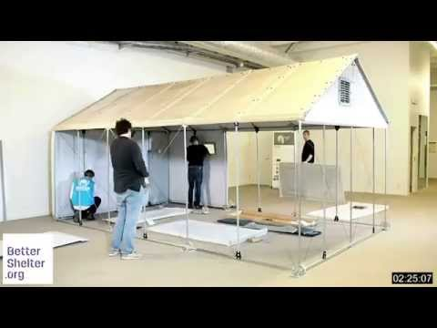 Here's What Flatpack Refugee Shelters Look Like, and How They Are Assembled