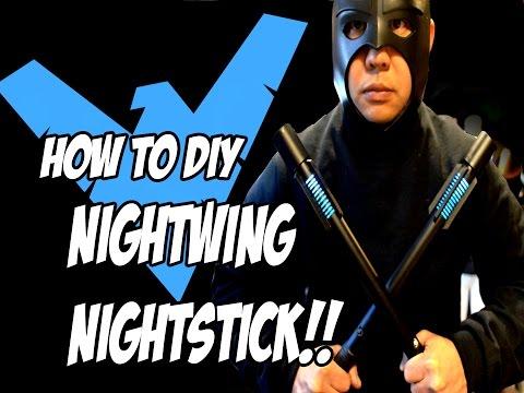 NightWing How to DiY Escrima Sticks Weapons Batman Arkham Knight Costume Cosplay Pt 2