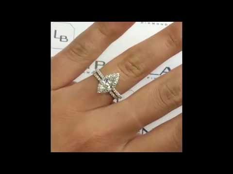 1 carat Marquise Cut Diamond Engagement Ring