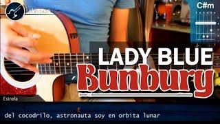 """Cómo tocar """"Lady Blue""""de Enrique Bunbury en guitarra acústica (HD) Tutorial - Christianvib"""