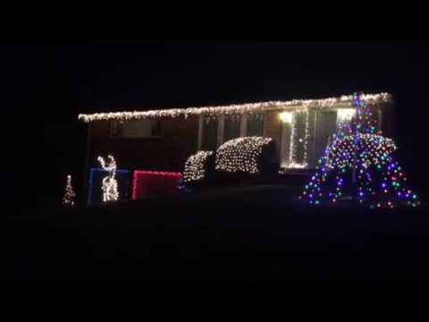 Mr Christmas Light show Rock songs Part 1 - YouTube