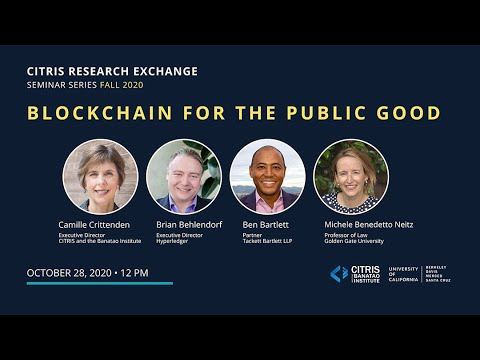CITRIS Research Exchange: Blockchain for the public good panel