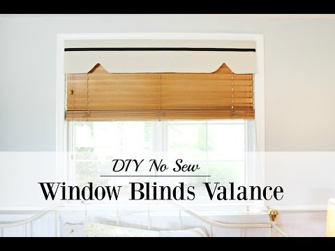 DIY No Sew Window Blinds Valance
