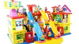 Peppa Pig Blocks Mega House Toys For Kids - Lego Duplo House Construction Sets #8