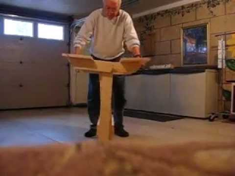Folding Wooden Work Table Part 9 Of 9 Youtube