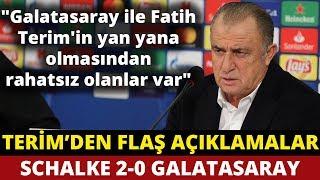 Fatih Terim   Maç Sonu Basın Toplantısı   Schalke 2-0 Galatasaray   6 Kasım 2018