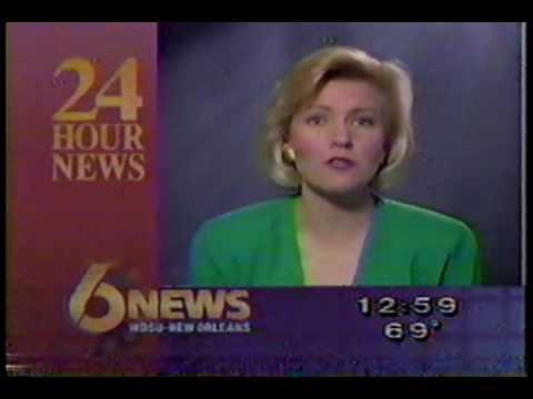 WDSU 6 News newsbreak late 1991