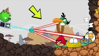Bad Piggies - SHOOTING ANGRY BIRDS LIGHTNING GUN PIGGY STYLE!!