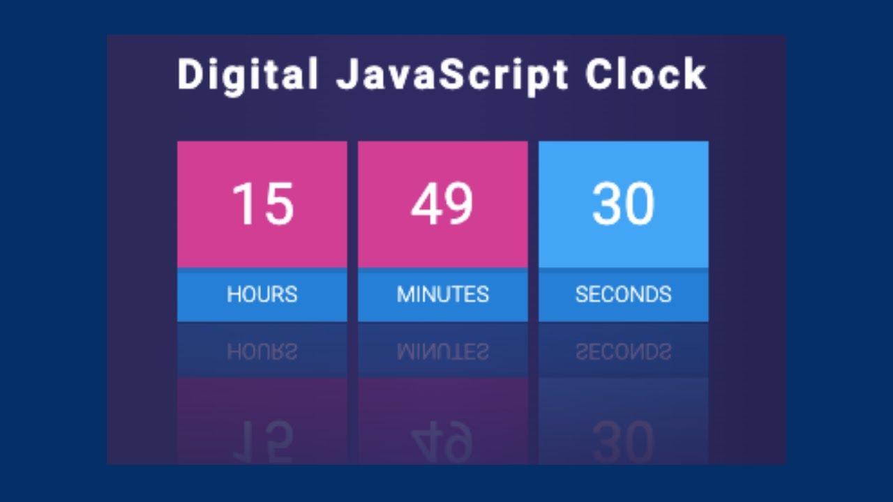 Digital Clock UI Design Using HTML, CSS3 & Vanilla Javascript