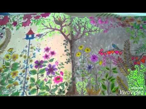 Coloring Book Secret Garden Page 1 2
