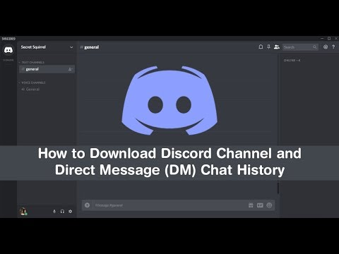 How to Download/Export Discord Channel & Direct Message (DM) History  (chat  logs)