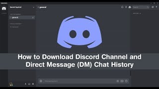 Gambar cover How to Download/Export Discord Channel & Direct Message (DM) History. (chat logs)