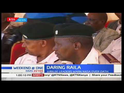 Jubilee leaders warn Raila Odinga over oath