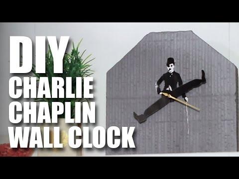 How to make a DIY Charlie Chaplin Wall Clock