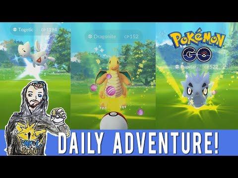 Pokemon GO Daily Adventure in Alameda, CA! Wild Togetic! Wild Dragonite! East Bay Oakland Alameda