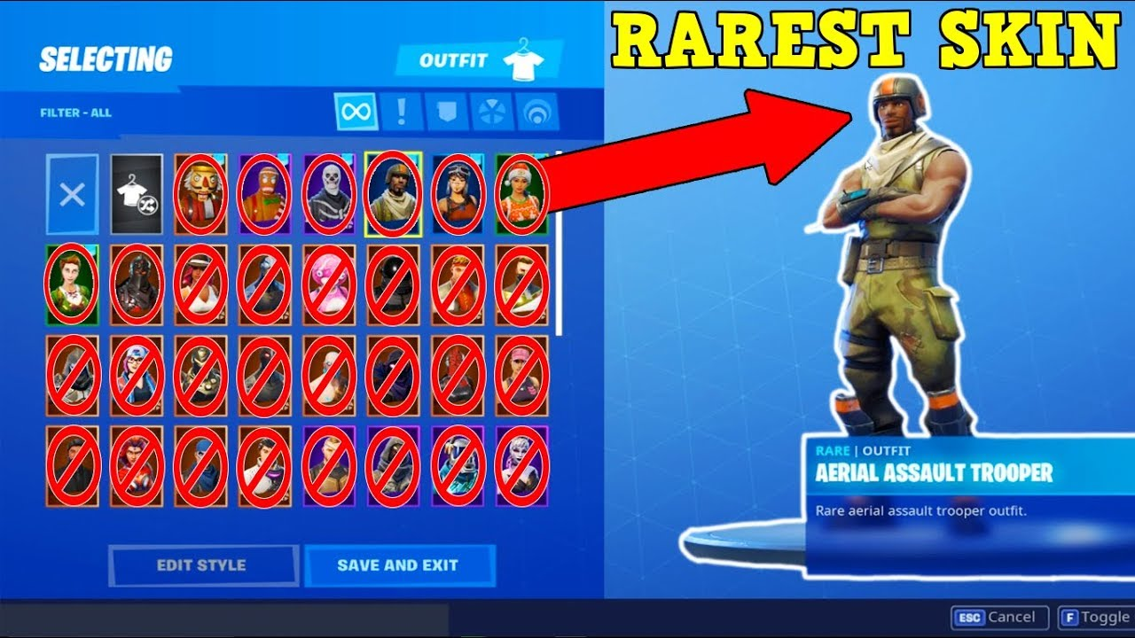Aerial Assault Trooper Is The Rarest Skin Fortnite Stacked Accounts