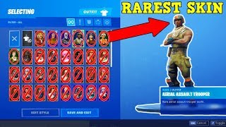AERIAL ASSAULT TROOPER IS THE RAREST SKIN! (Fortnite Stacked Accounts!)