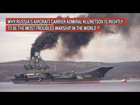 RUSSIA'S ONLY AIRCRAFT CARRIER ADMIRAL KUZNETSOV CATCHES FIRE AGAIN ! DEFENSE UPDATES