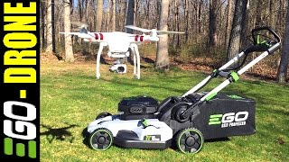NEW 2016 EGO 56v MOWER - MUST SEE DRONE VIEW