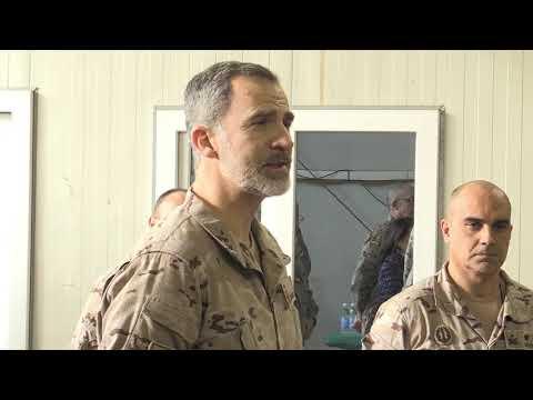 S.M. el Rey con el contingente de operaciones especiales Bagdad