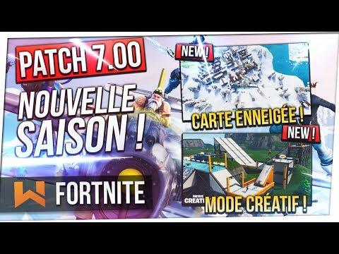 ❄️ Patch Saison 7 : Tout Savoir  Map Enneigée Avions Mode Créatif  Fortnite Battle Royale